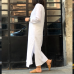 Beyaz Keten Tunik Elbise