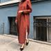 Koyu Tarçın Pamuk Tunik Elbise