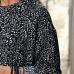 Siyah Beyaz Desenli Viskon Tunik Elbise