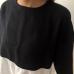 Siyah Beyaz Keten Salaş Bluz